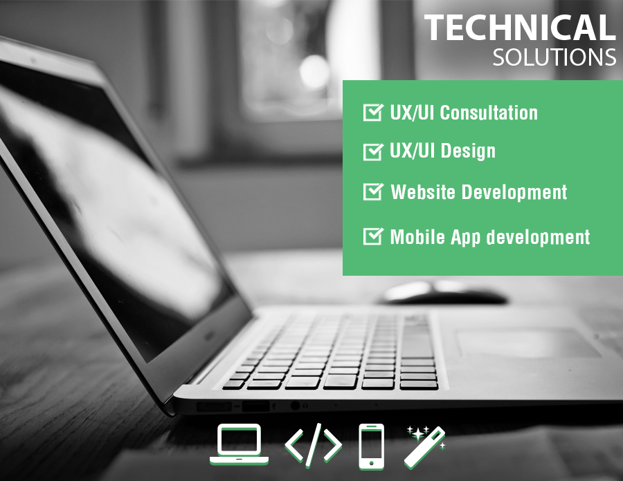 Mobile App development, UX consultation, web design